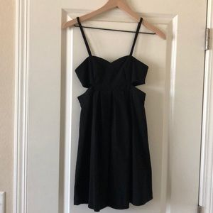 Little black dress XS cutout Urban Outfitters